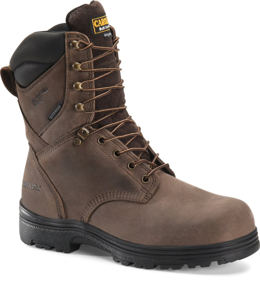 Carolina 8 Inch ST WP Insulated Work Boot : Gaucho Crazy Horse - Mens