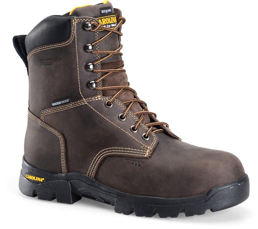 Carolina 8 InWP 800G Composite Toe Work Boot : Dark Brown - Mens