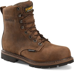 Dark Brown Carolina 8 Waterproof Work Boot