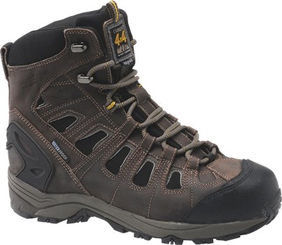 "Brown Nubuck Carolina 7"" Waterproof Insulated 4X4 Hiker"