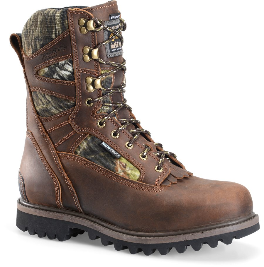 Carolina 10 IN Waterproof Insulated Camo Work Boot : Medium Brown - Mens