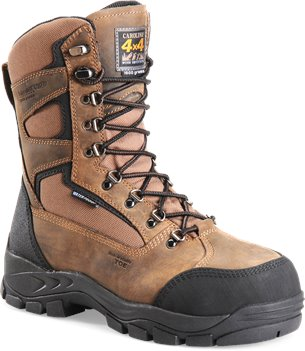 Brown Black Carolina 9 Inch 4x4 Insulated WP Comp Toe