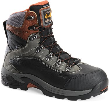 Black Gray Carolina 7 Inch WP 4x4 Insulated Alum Toe Hiker