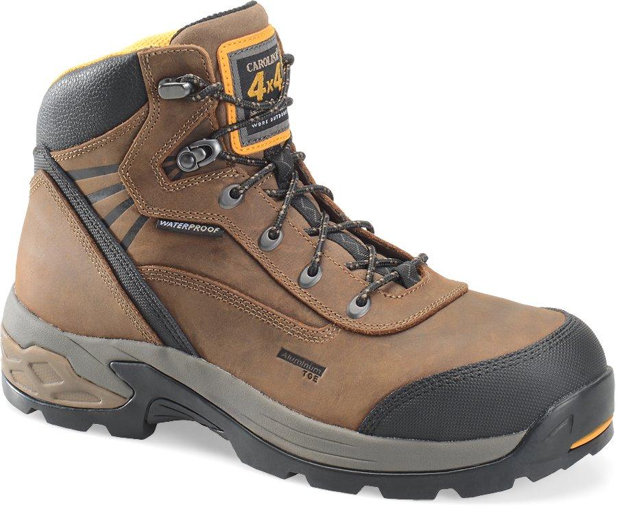 Carolina 6 Inch WP 4X4 Aluminum Toe Hiker : Brown Black - Mens