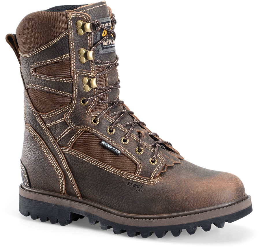 Carolina 10 InWP ST Work Boot : Dark Brown - Mens
