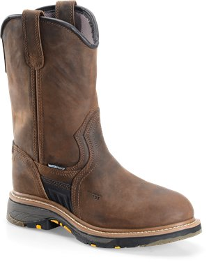 Dark Brown Carolina 10 Inch Workflex Composite Toe Ranch Wellington