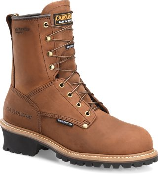 Copper Crazy Horse Carolina 8 Inch Logger Non-Steel Toe