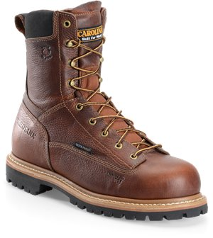 Medium Brown Carolina 8 Inch WP Lace to Toe Work Boot