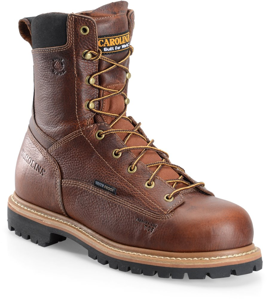 Carolina 8 WP Lace to Toe Comp Toe Work Boot : Medium Brown - Mens