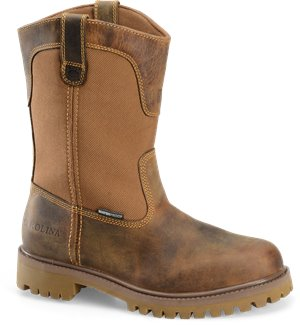 Dark Brown Carolina Waterproof Steel Toe Wellington