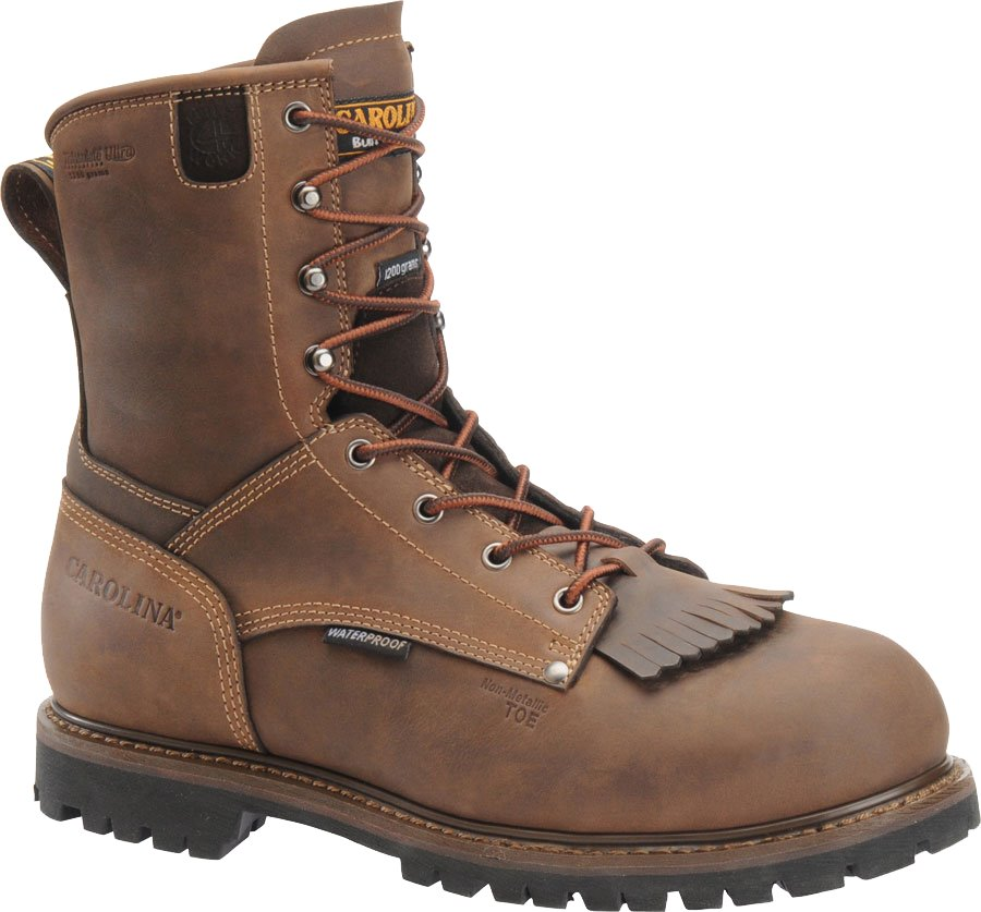 Carolina 8 Inch 1200G WP Comp Toe Grizzly : Brown - Mens