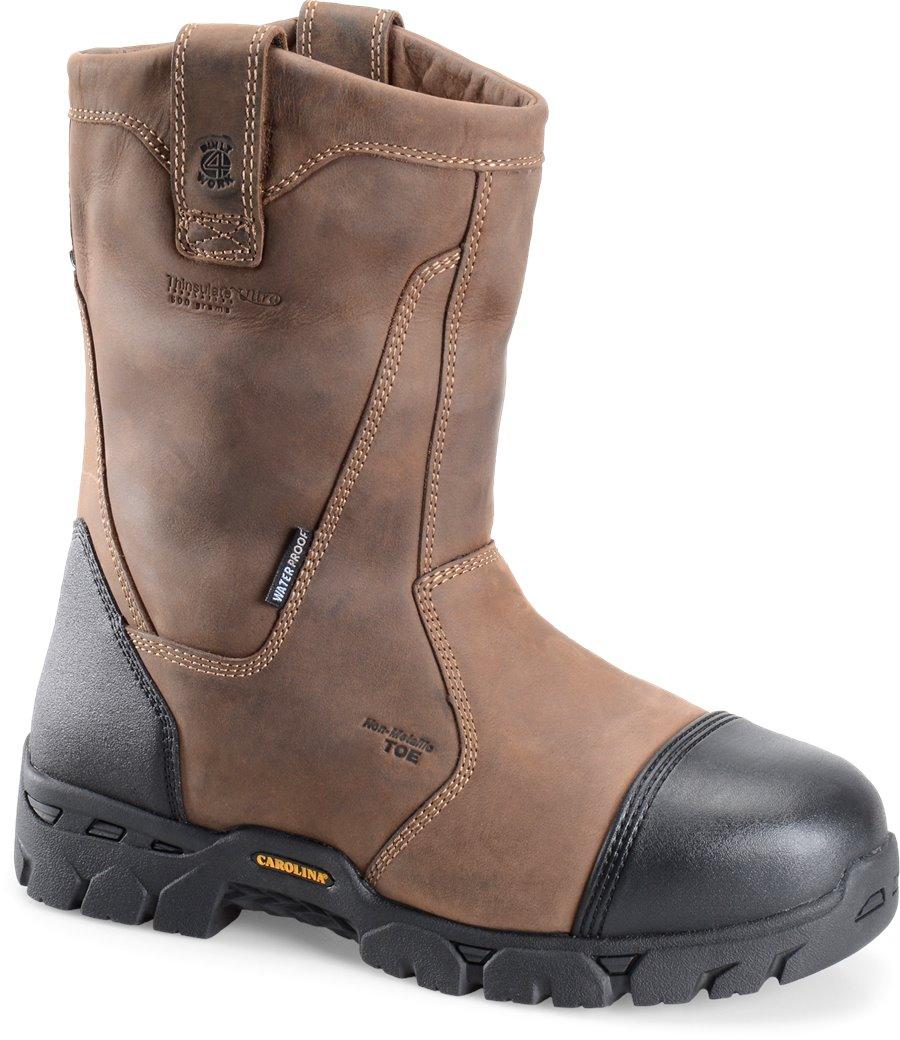 Carolina Broad Composite Toe Wellington : Dark Brown - Mens