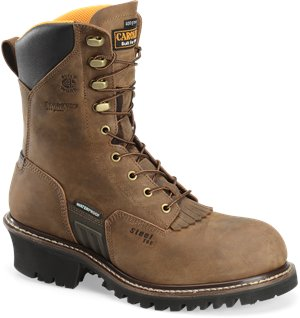 Dark Brown Carolina 8 Inch WP Insulated ST Logger