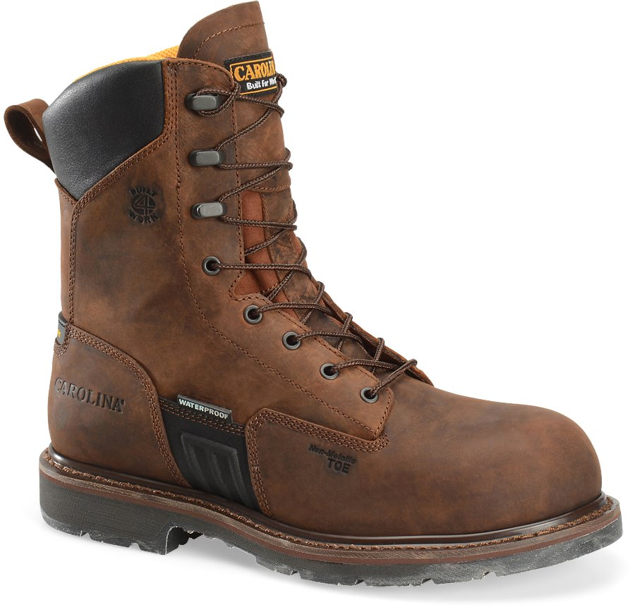 Carolina 8IN Waterproof Composite Toe : Dark Brown - Mens