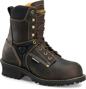 Dark Brown Carolina 8 Inch Logger Comp Toe WP