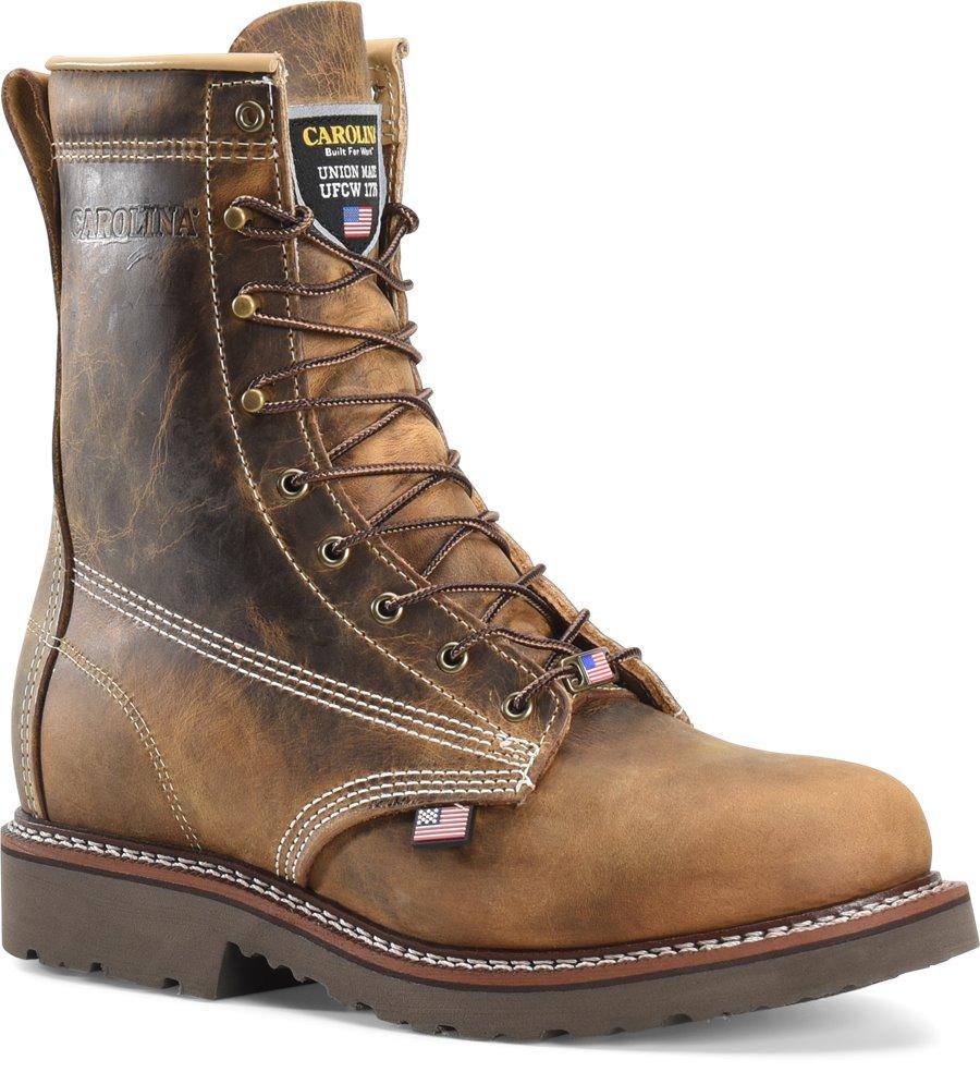 Carolina Domestic 8 Inch Work Boot : Dark Brown - Mens