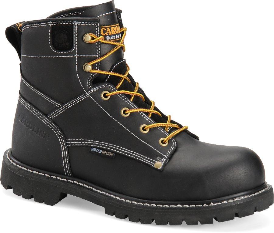 Carolina 6 Inch Waterproof Work Boot : Black - Mens
