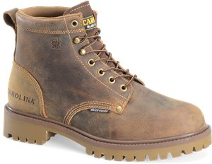 "Medium Brown Carolina 6"" WP Work Boot"