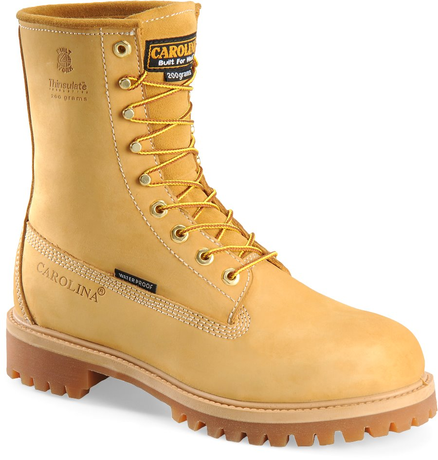 Carolina 8 Inch Waterproof Wheat Work Boot : Light Brown - Mens