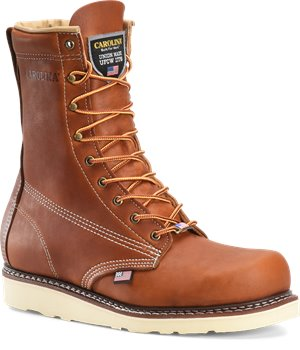 Tobacco Carolina 8 Inch Domestic Wedge ST Boot