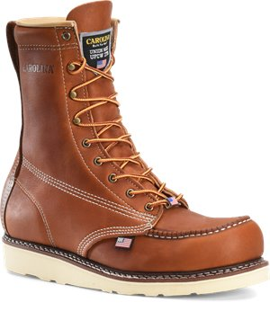 Tobacco Carolina 8 Inch Domestic Moc Toe ST Wedge Boot