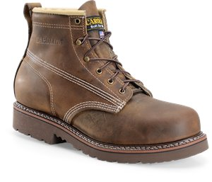 Dark Brown Carolina Domestic 6 Inch Steel Toe Work Boot