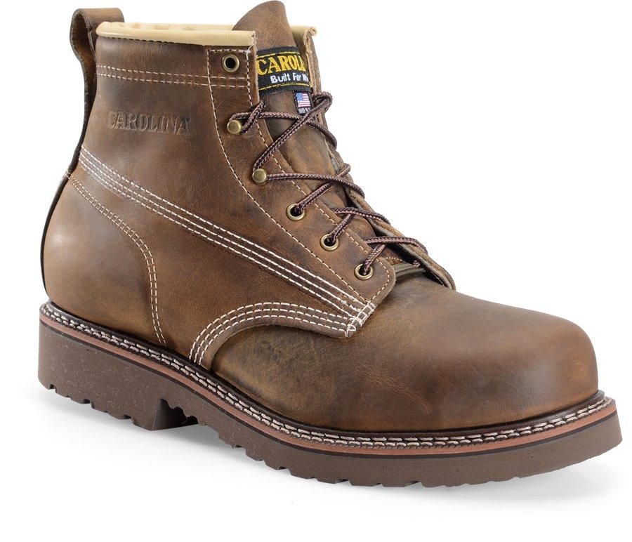 Carolina Domestic 6 Inch Steel Toe Work Boot : Dark Brown - Mens