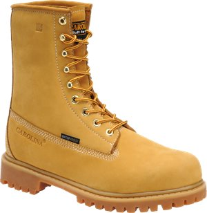 Light Brown Carolina 8 Inch ST Waterproof Wheat Work Boot