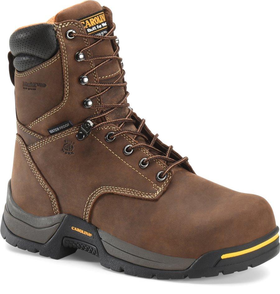 Carolina 8 Inch WP 600G Broad Toe : Dark Brown - Mens