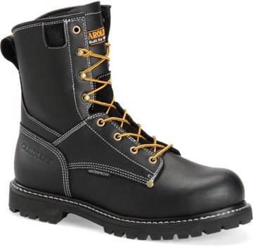 "Black Carolina 8"" Waterproof Work Boot"