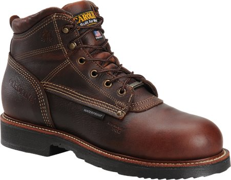 Brown Carolina 6 Inch Domestic Waterproof Boot