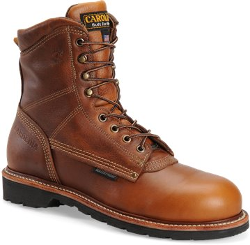 Tobacco Carolina 8 Inch Domestic Waterproof Boot