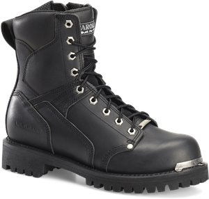 Oil Black Carolina 8 Inch Lace to Toe Side Zipper Work Boot