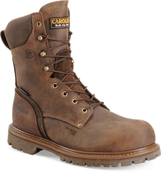 Coffee Carolina 8 Inch WP CompToe Work Boot