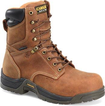 "Copper Crazy Horse Carolina 8"" Waterproof Comp. Broad Toe"