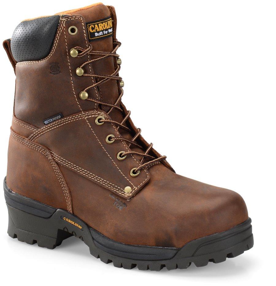 Carolina 8 Inch Comp Toe WP Logger : Medium Brown - Mens
