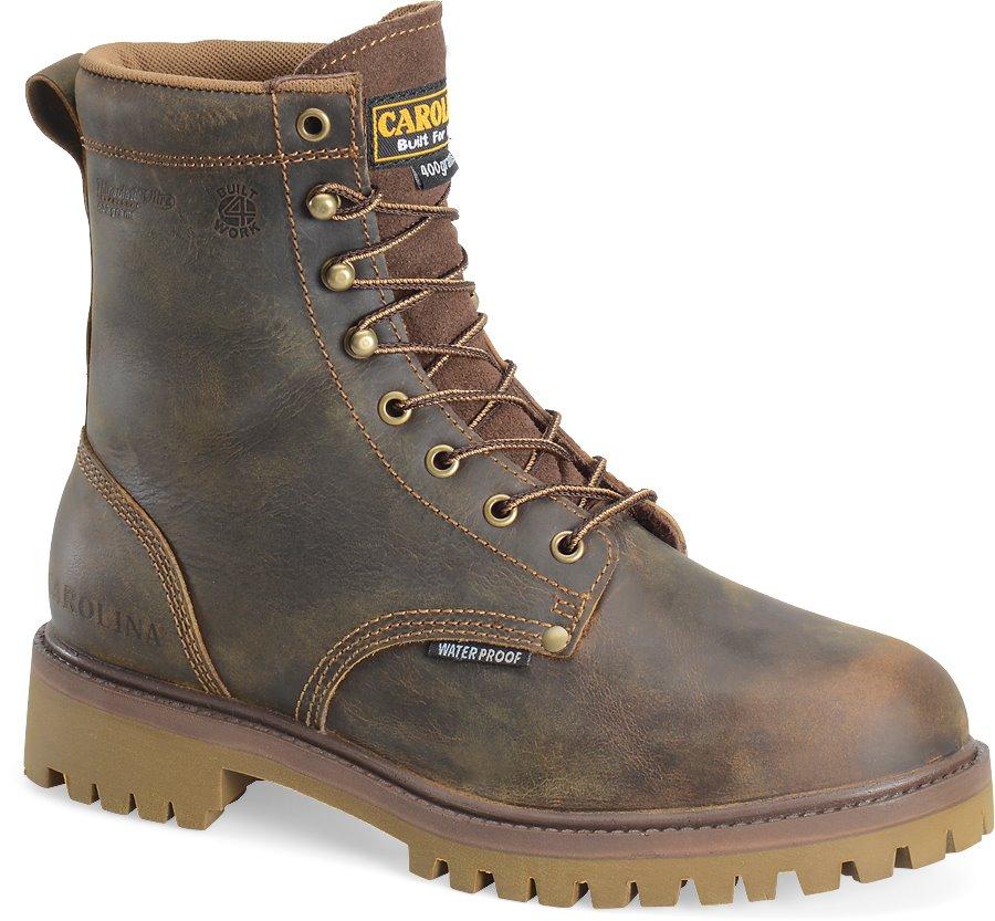 Carolina 8 Inch Steel Toe 400G WP  BOOT : Medium Brown - Mens