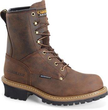 Dark Brown Carolina 8 Inch Plain Non-Steel Toe Logger