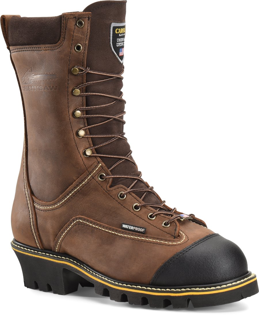 Carolina 10 In Chainsaw Boot : Gaucho Crazyhorse - Mens