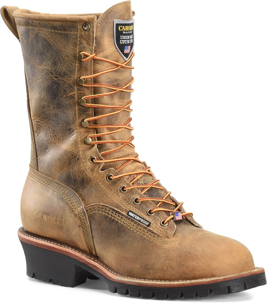 Carolina 10 Inch WP Composite Toe Lace-toToe Logger : Brown - Mens