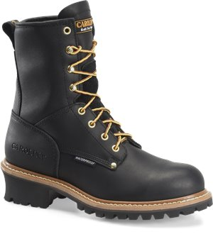Black Carolina 8 Inch Plain Steel Toe Logger
