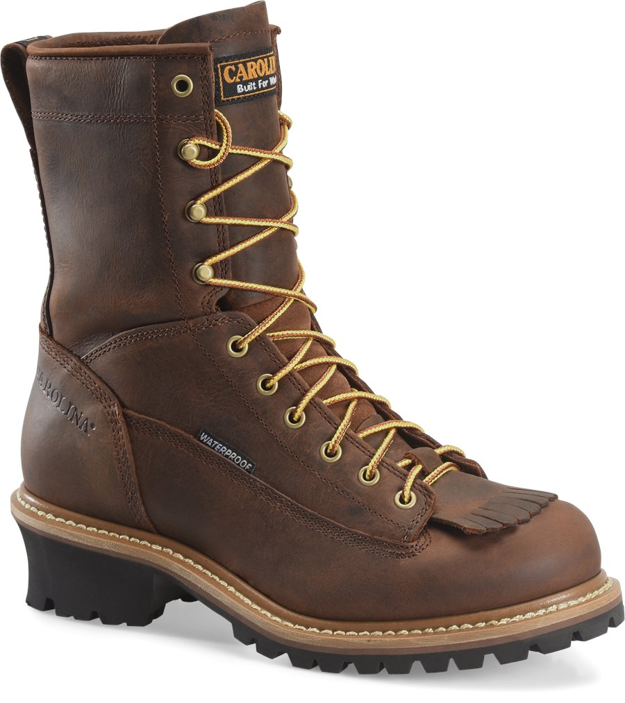 Carolina 8 Inch ST Lace to Toe Logger : Copper Crazy Horse - Mens