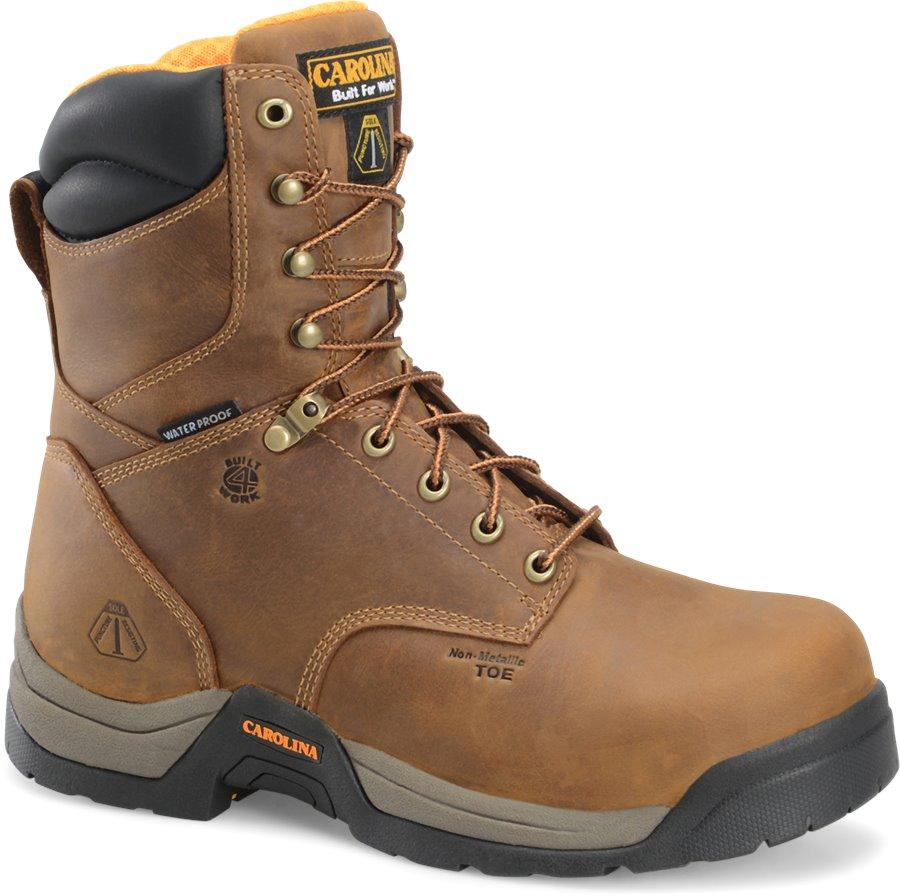 Carolina 8 In Puncture Resisting Boot : Dark Brown - Mens