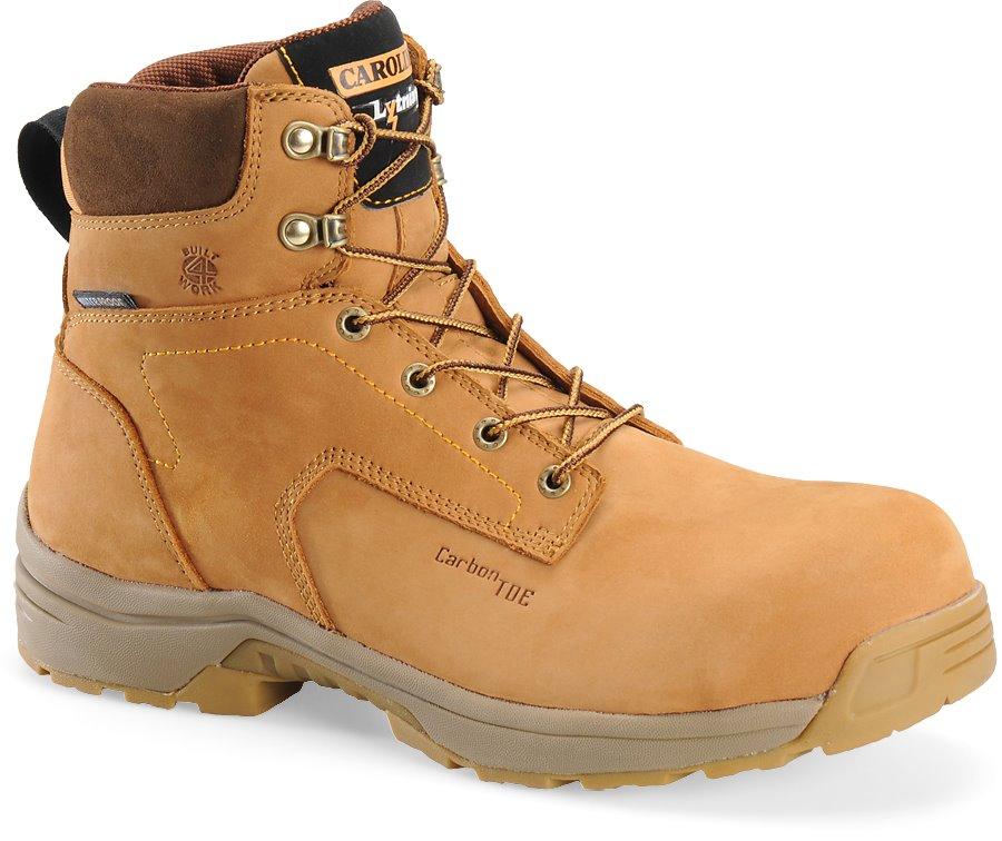 Carolina 6 Inch Waterproof Lightweight Work Boot : Wheat Nubuck - Mens