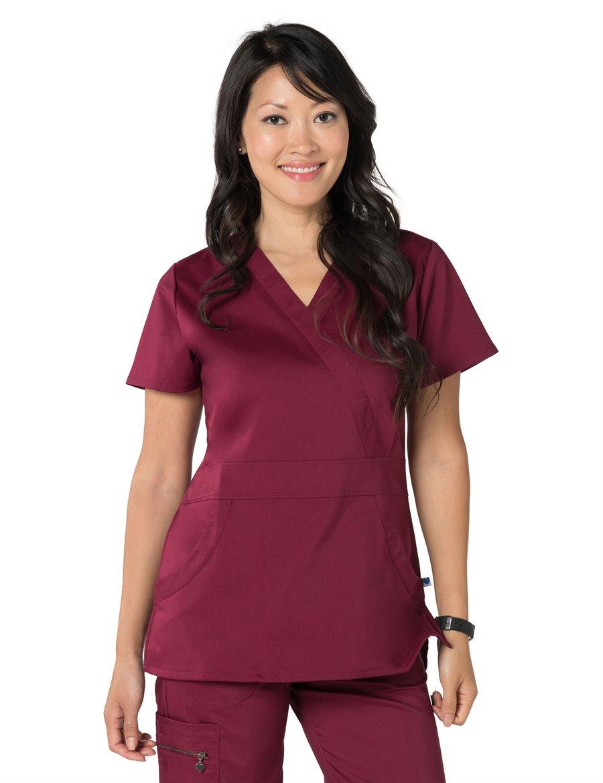 Nurse Mates Lauren Top : Wine - Womens