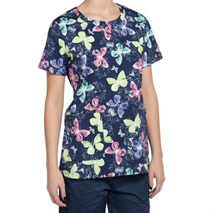 Evie Print Multi Nurse Mates Notch Neck Top