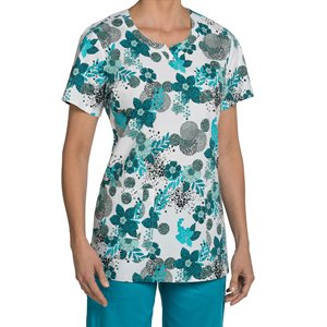 Hayden Print Nurse Mates Notch Neck Top