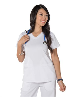 WHITE Nurse Mates Maci Top