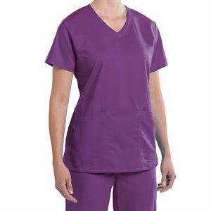 EGGPLANT Nurse Mates Maci Top