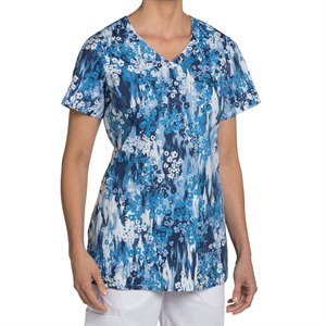 Multi Blue Nurse Mates Hope Print Top